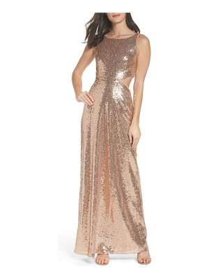 LULUS Cutout Sequin Gown