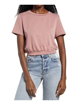 Lulus keep grooving french terry crop t-shirt