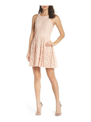 Lulus racerback lace party dress