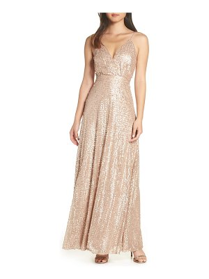 Lulus sequin a-line gown