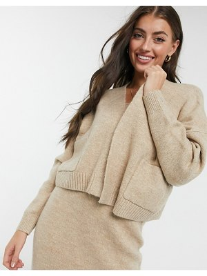 M Lounge relaxed cardigan with pockets-beige