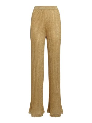 M Missoni Flared knit lurex pants