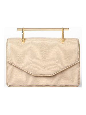 M2MALLETIER indre embossed leather shoulder bag