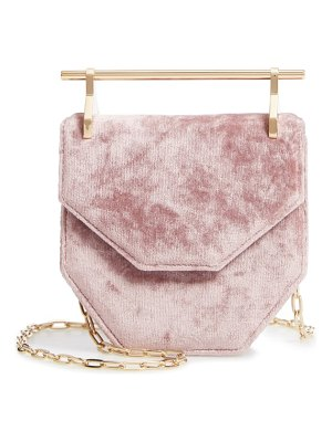 M2MALLETIER mini amor fati velvet shoulder bag
