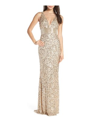 Mac Duggal sequin column gown