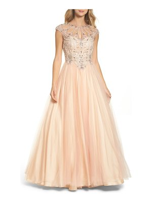 MAC DUGGAL Cutout Beaded Bodice Ballgown