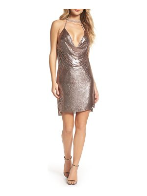 MAC DUGGAL Embellished Halter Neck Dress