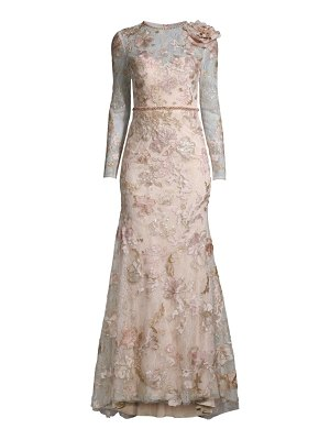 Mac Duggal floral lace embellished gown