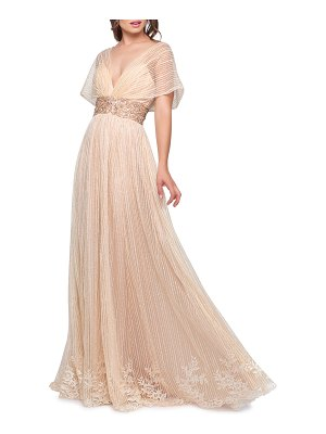 Mac Duggal Grecian Style V-Neck Gown