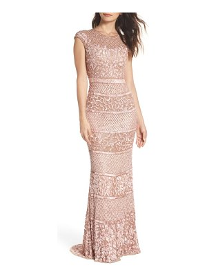 Mac Duggal high neck sequin gown