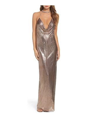 MAC DUGGAL Jeweled Choker Column Gown