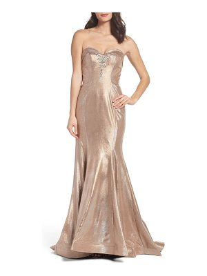 MAC DUGGAL Metallic Mermaid Gown