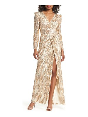 Mac Duggal mineral sequin gown