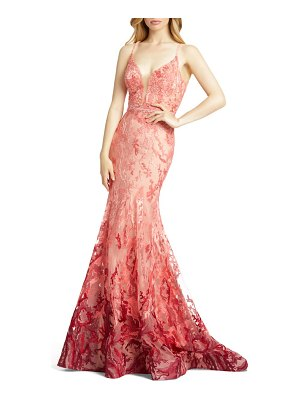 Mac Duggal ombre lace mermaid gown