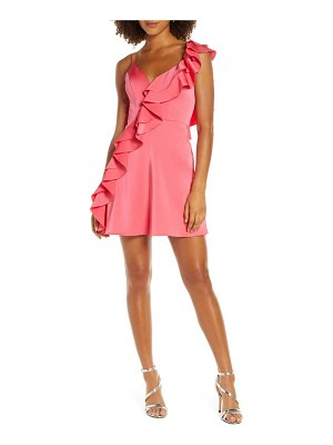 Mac Duggal one-side ruffle party dress