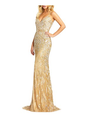 Mac Duggal Sequin Sheath Gown