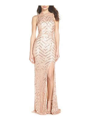 MAC DUGGAL Sequin Strappy Gown