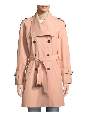 Mackage Cinzia Double-Breasted Belted Rain Jacket