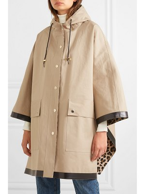 MACKINTOSH keith hooded bonded cotton cape