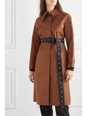 MACKINTOSH roslin belted bonded wool and mohair-blend coat