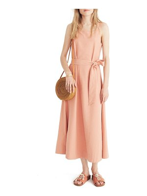 Madewell apron tie waist dress