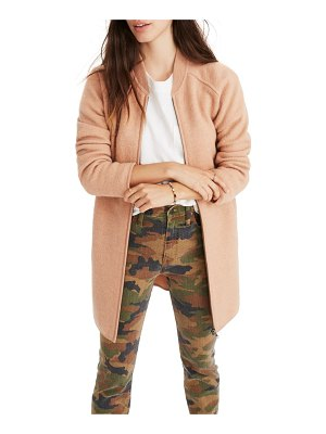 Madewell bomber sweater jacket