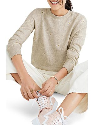 MADEWELL Daisy Embroidered Sweatshirt