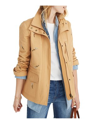Madewell embroidered passage jacket