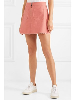 Madewell frayed denim mini skirt