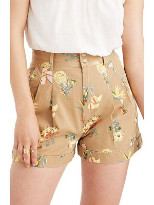 Madewell hawaiian hideaway pleated shorts