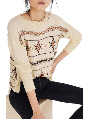 MADEWELL Reseda Embroidered Pullover Sweater
