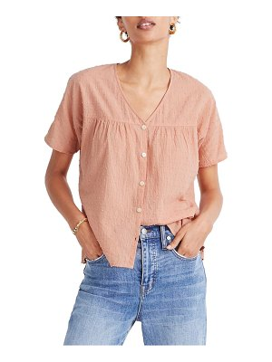 Madewell rhyme button front clip dot top