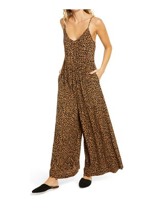 Madewell shirred cami wide leg jumpsuit
