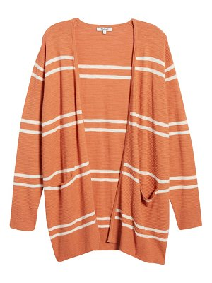 Madewell stripe summer ryder cardigan sweater