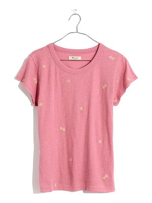 Madewell the daisy embroidered perfect t-shirt