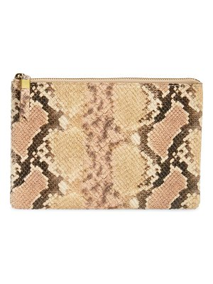 Madewell the snake embossed leather pouch clutch