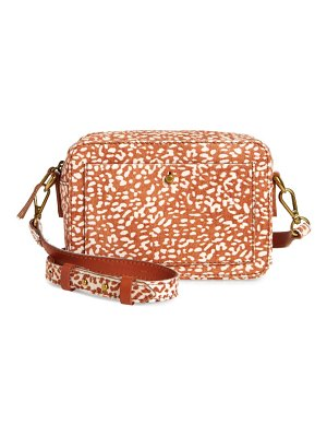 Madewell the transport camera bag: animal spot calf hair edition