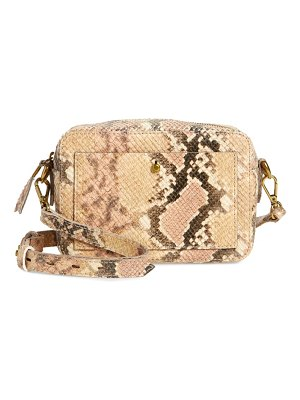 Madewell the transport snake embossed leather camera bag