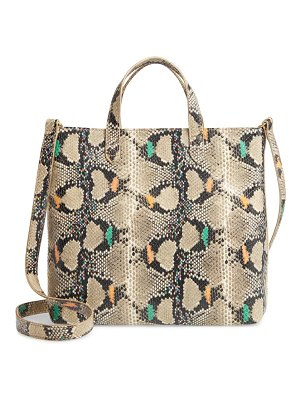 Madewell the zip-top small transport crossbody: snake embossed edition