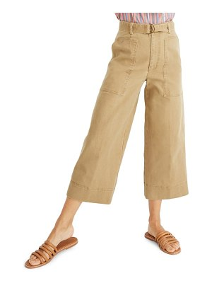 Madewell utility crop wide leg pants