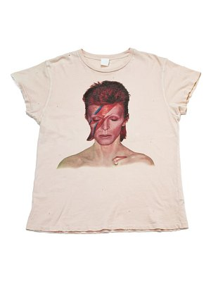 Madeworn bowie distressed graphic tee