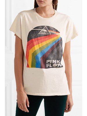 Madeworn pink floyd distressed printed cotton-jersey t-shirt