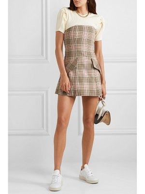 Maggie Marilyn net sustain i believe in you strapless checked woven mini dress
