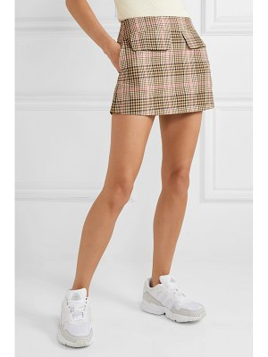 Maggie Marilyn net sustain short and sweet checked woven mini skirt