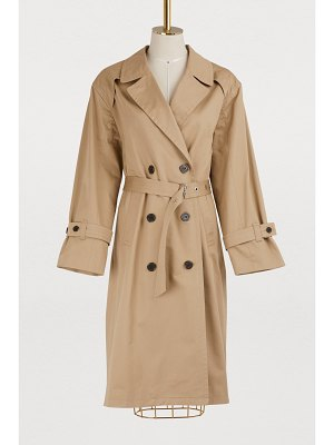 MAISON KITSUNÉ Helena cotton trench coat