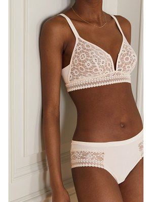 MAISON LEJABY daphne stretch-jersey and corded lace soft-cup bra