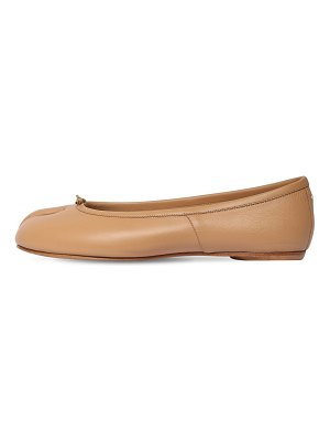 MAISON MARGIELA 10mm tabi leather ballerina flats