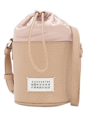 MAISON MARGIELA 5ac mini grained leather bucket bag