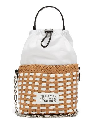 MAISON MARGIELA 5ac woven faux-leather bucket bag