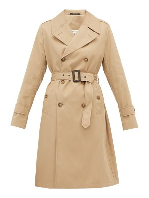 MAISON MARGIELA belted gabardine trench coat